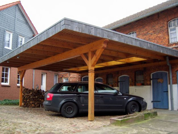 Carports terassen balkone der zimmermann haupt for Open carports